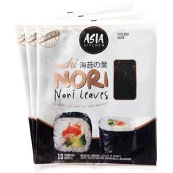 Algi Sushi Nori Premium Gold 3 x 10 szt - Asia Kitchen