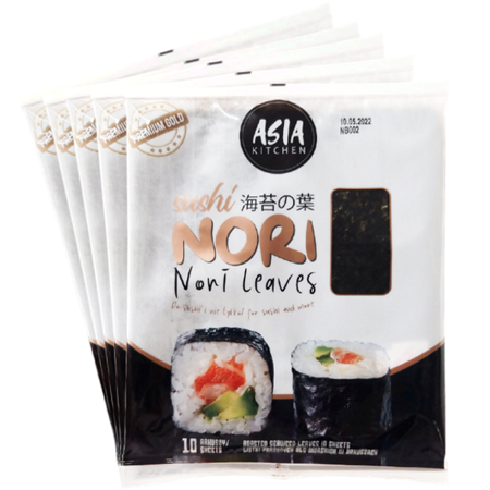 Algi Sushi Nori Premium Gold 5 x 10 szt - Asia Kitchen
