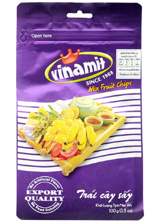 Chipsy owocowe, tropikalny mix 100g Vinamit