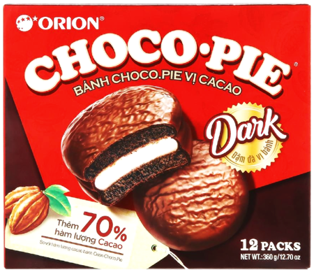 Ciasteczka Choco Pie Dark Cacao 360g Orion