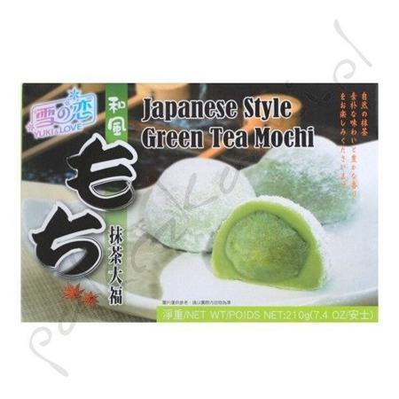 Ciasteczka Mochi z zieloną herbatą 210g Yuki&Love