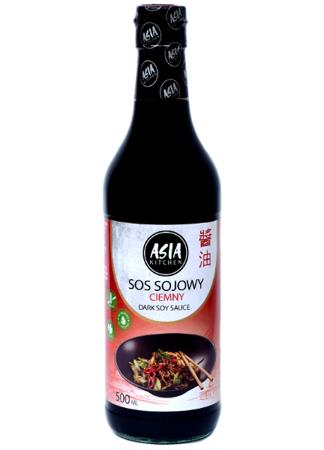 Ciemny sos sojowy bezglutenowy 500ml Asia Kitchen