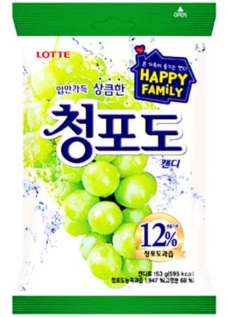 Cukierki z sokiem winogronowym 153g Lotte