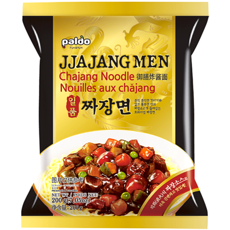Jjajang Men, makaron z sosem z czarnej fasoli 4 x 200g - Paldo