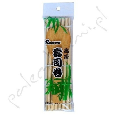 Matka bambusowa Makisu 24 x 24cm z łyżką do ryżu