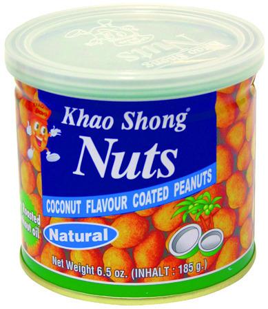 Orzeszki ziemne w skorupce kokosowej 185g - Khao Shong