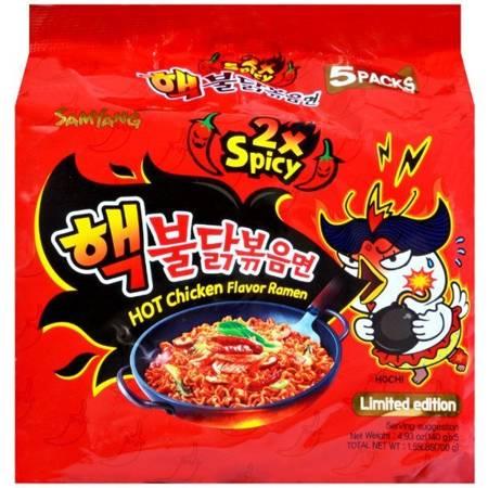 Ramyun o smaku ostrego kurczaka 2xSpicy, bombowo ostry 5 x 140g - Samyang