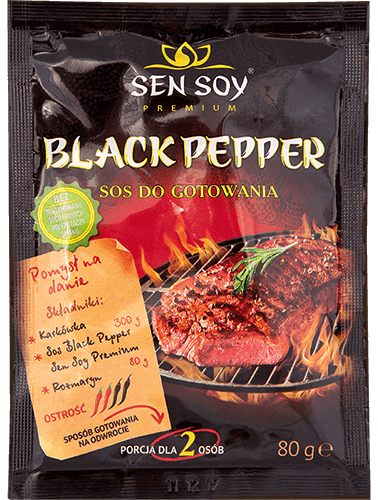 Sos Black Pepper do gotowania 80g Sen Soy