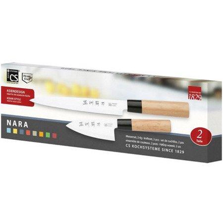 Zestaw 2 noży NARA, Yanagi-ba do sushi (21cm) i Santoku (11cm) - CSS